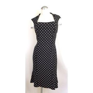 White House Black Market Size 10 Polka Dot Dress